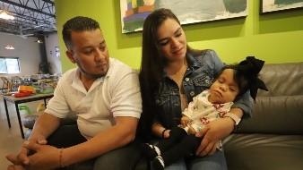 La pequeña Ivanna fue diagnosticada con condrodisplasia punctata rizomélica. Según cifras, es la única en México con ese padecimiento.