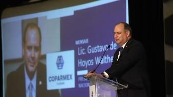 El líder empresarial estuvo este martes en Tijuana en la toma de protesta del Consejo 2020 de Coparmex.