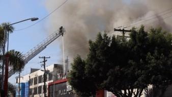 El incendio se reportó alrededor de las 8:00 horas.