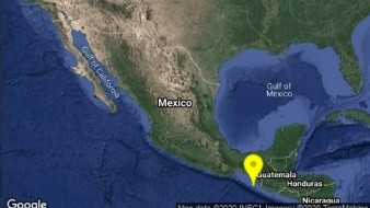 Sismo de 5.0 grados se registra al Suroeste de Huixtla, Chiapas