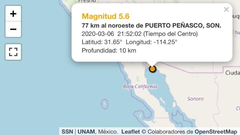 Sienten sismo en Puerto Peñasco; Sismológico reporta 5.6 de intensidad(GH)