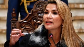 La presidenta interina de Bolivia, Jeanine Áñez, ofrece una conferencia de prensa en La Paz, el viernes 15 de noviembre de 2019