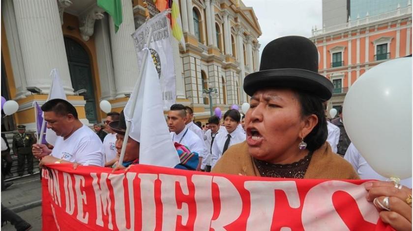 Feministas latinoamericanas hacen exigencias políticas por la lucha de igualdad de genero(EFE)