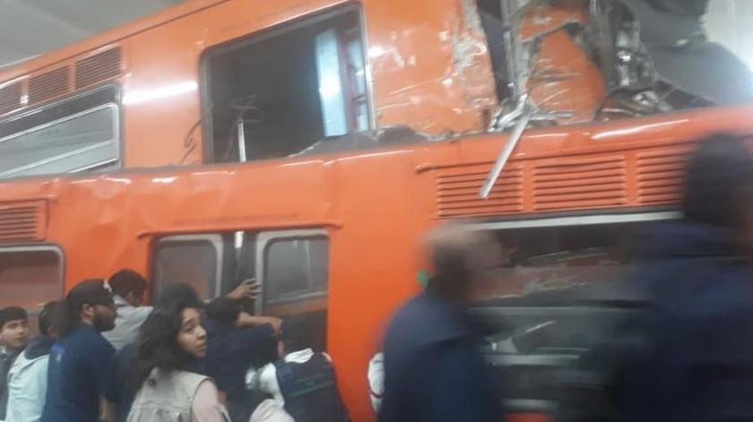 El hombre que falleció en el choque del Metro de la Ciudad de México en Tacubaya, ya ha sido identificado por las autoridades.(El Universal)
