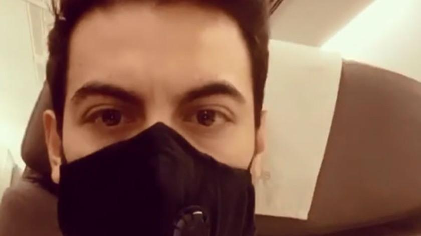 Carlos Rivera tuvo que regresar a México por el coronavirus.(Cortesía Instagram)
