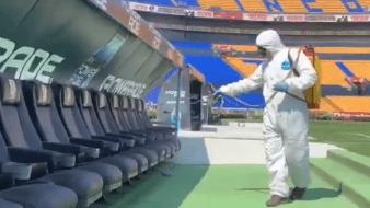 Tigres desinfecta todo el Estadio Universitario para bajar riesgo de contagio por coronavirus