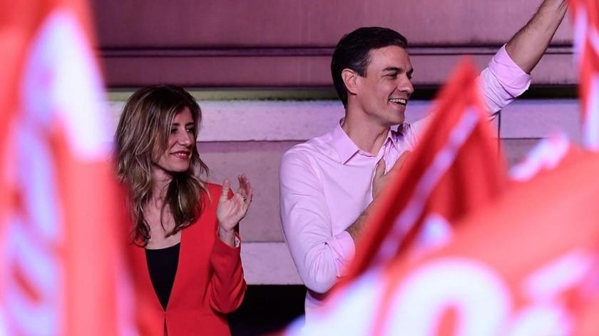 Da positivo a coronavirus Begoña Gómez, esposa del presidente del gobierno de España(AP)