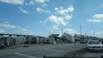 Tren se descarrila en el ejido Guanajuato
