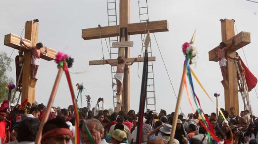 La Representación de la Pasión, Muerte y Resurrección de Cristo, que se celebra anualmente en la ahora Alcaldía de Iztapalapa, durante la Semana Santa(El Universal)