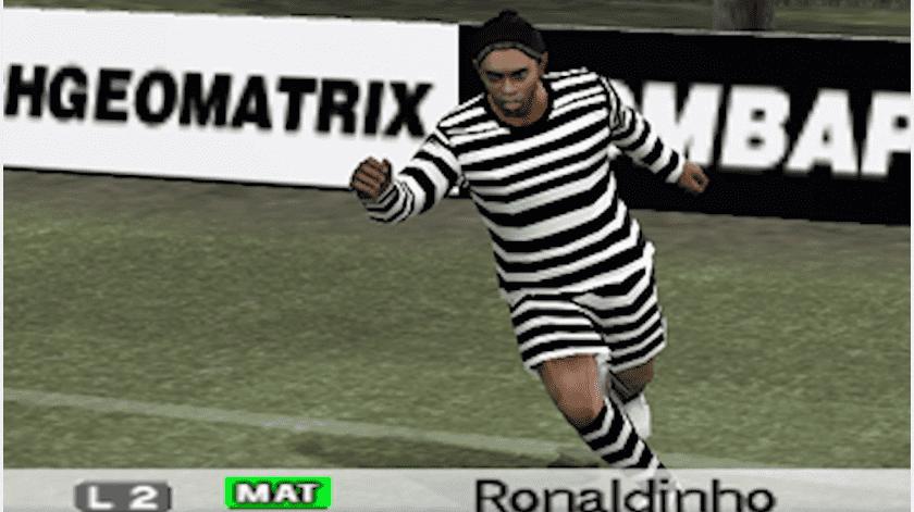 Videojuego crea perfil de Ronaldinho con vestimenta de preso(Captura de pantalla)