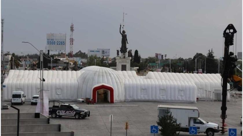 """En Hidalgo, México instalan un """"Hospital Inflable"""" para hacerle frente a la pandemia del COVID-19"""