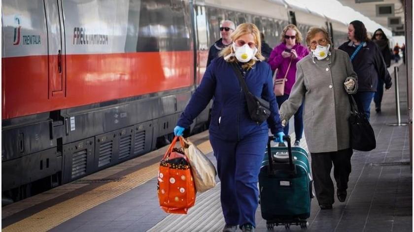 El número de enfermos actualmente en Italia, el segundo país del mundo en casos después de China, es de 23.073 personas, una subida de 2.470 respecto al domingo(EFE)