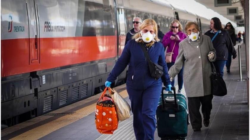 De los enfermos, 2.060 se encuentran ingresados en unidades de cuidados intensivos, de ellos 879 en la región septentrional de Lombardía, la más afectada por la pandemia.(EFE)