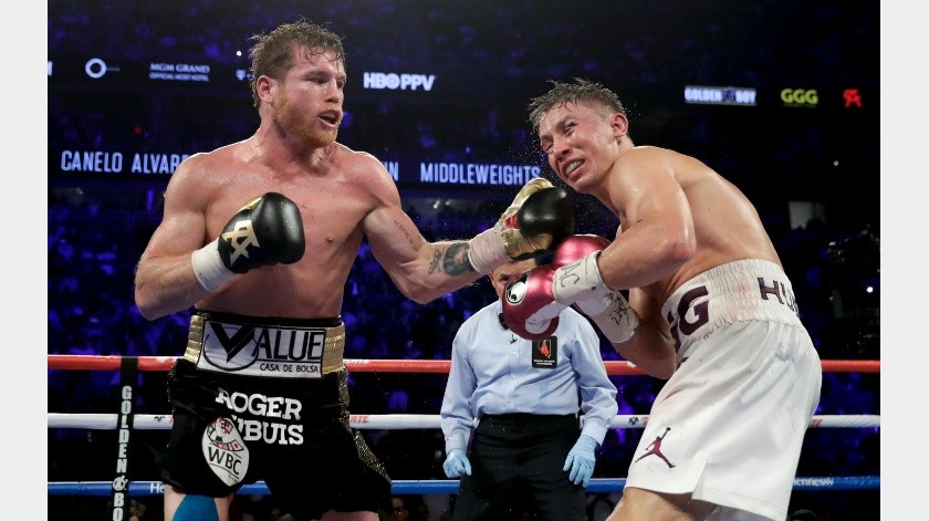 'Canelo' tendría acuerdo para tercera pelea ante Golovkin; sería en septiembre.(Archivo Digital)