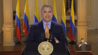El día de hoy 17 de marzo, en un mensaje televisado, el presidente de Colombia Iván Duque declara estado de emergencia por el COVID-19