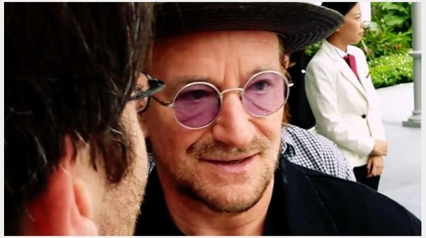 El cantautor Bono hizo una canción para homenajear a médicos, enfermeros y cuidadores de pacientes infectados con COVID-19.(Instagram: _ellen_v_83)