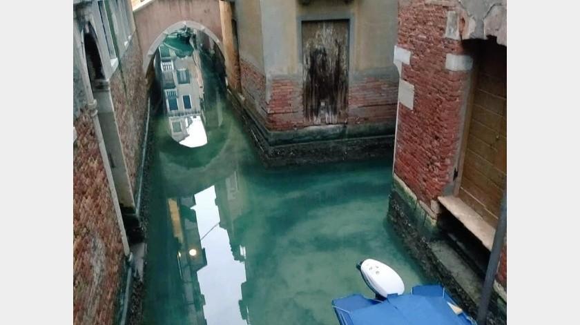 Sorprenden aguas cristalinas en Venecia durante la cuarentena.(Twitter)