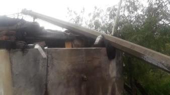 Tras la lluvia, cae poste sobre una casa en Guaymas