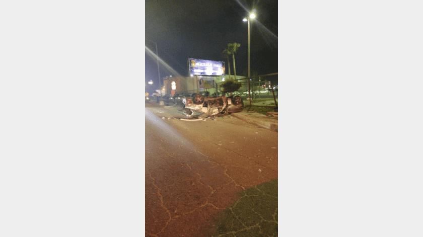 Muere automovilista en volcadura(Cortesía)