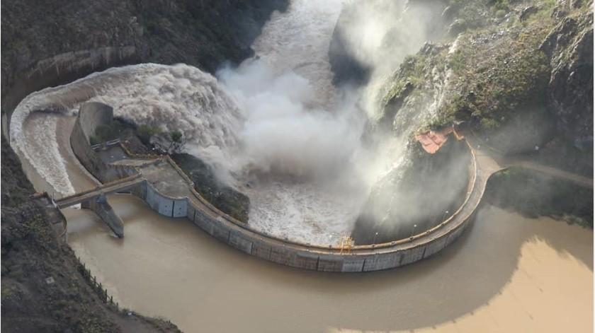 Monitorean presa La Angostura; está en su máxima capacidad por lluvias(Especial)