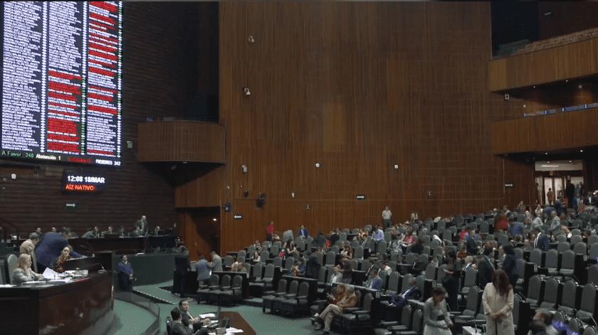 Sesión en vivo del 18 de marzo de 2020, de la discusión de reforma de diversas leyes en materia de elección continúa de legisladoras y legisladores federales(Cuenta Oficial de la Cámara de Diputados @Mx_Diputados)