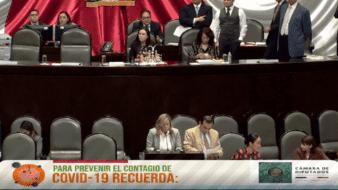Sesión en vivo del 18 de marzo de 2020, de la discusión de reforma de diversas leyes en materia de elección continúa de legisladoras y legisladores federales