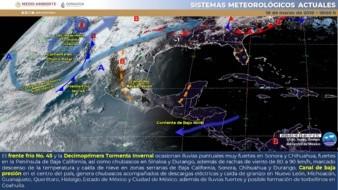 Se pronostican lluvias muy fuertes para Chihuahua y Sonora