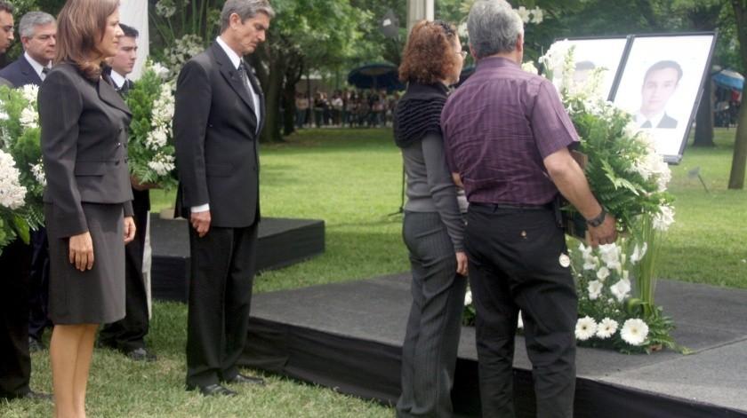 En esta foto de archivo, la ex primera dama Margarita Zavala asiste a ceremonia de los estudiantes asesinados en el Tecnológico de Monterrey.(Banco Digital)