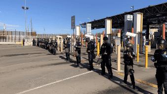 Cierran Garita de SLRC por ejercicios de seguridad