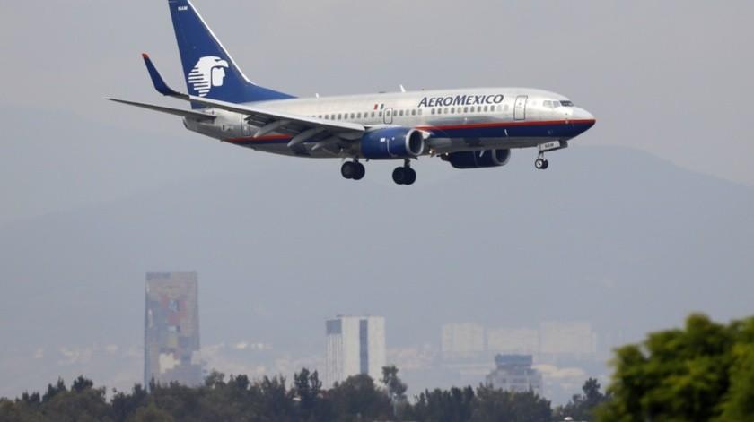 Avión de Aeroméxico(Agencia Reforma)