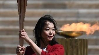 La llama olímpica va camino a Tokio