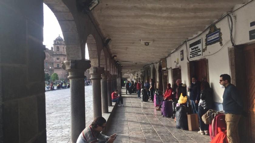Bajacalifornianos varados en Cusco Peru salen en autobús(Cortesía)