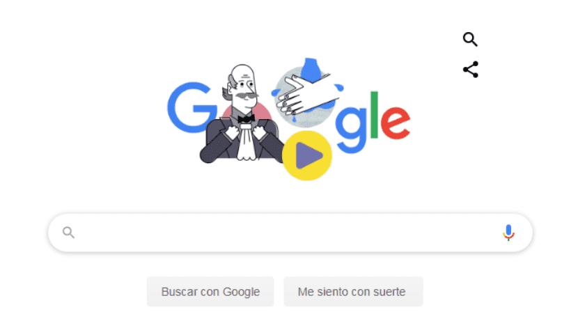 Doodle de Google te enseña a lavarte las manos.(Google)