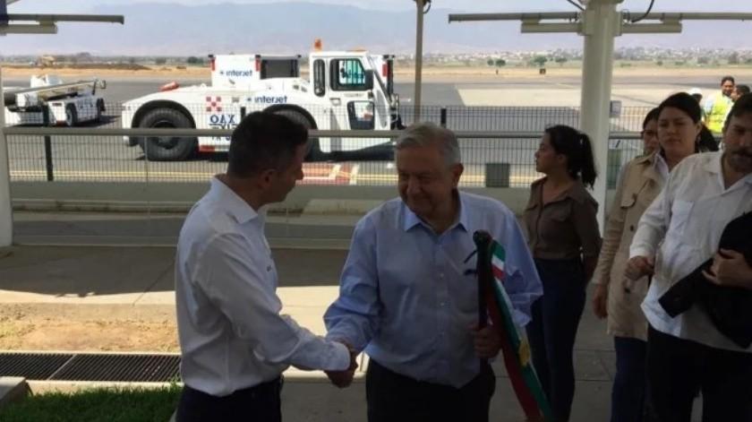 El presidente López Obrador se encuentra de visita en Oaxaca.(El Universal)