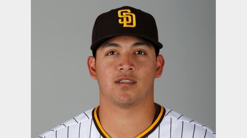 En esta foto de 2020, aparece el mexicano Andrés Muñoz, relevista de los Padres de San Diego.(AP)