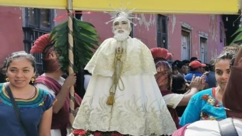 San Caralampio: Se encomiendan a santo en Chiapas por coronavirus(El Universal)