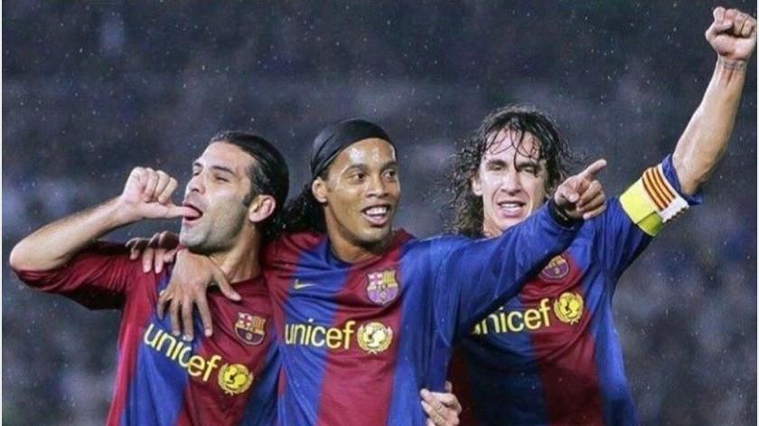 """""""Ronaldinho, con el que pude sufrir como rival y disfrutar como compañero"""" : Rafa Márquez(Instagram @rafa_marquez_rm4)"""