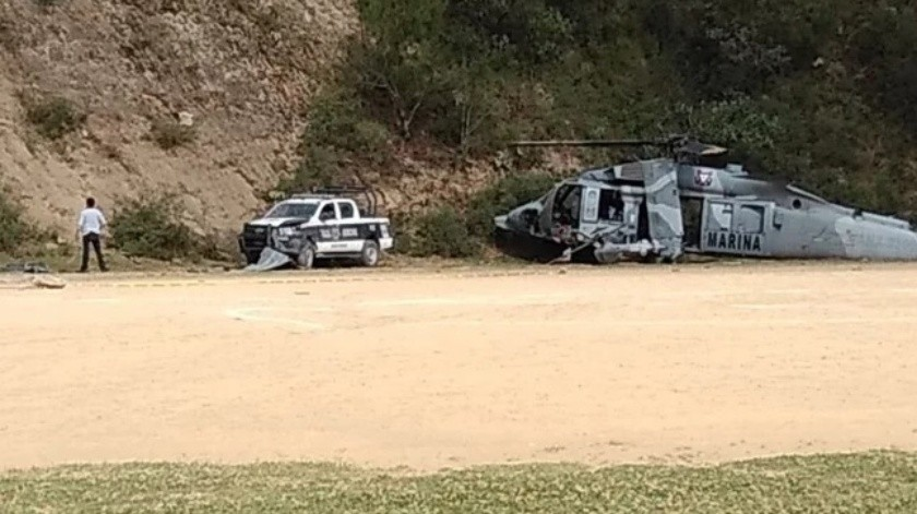 Helicóptero de Semar caído participaba en operativo: Fiscalía de Veracruz(Especial)