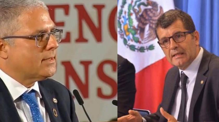 Cristian Morales Fuhrimann (izq) y Jean Marc Gabastou (der), dirigentes de la OMS-Organización Panamericana de la Salud (OPS) en México(Twitter Oficial @OPSOMSMexico / ONU México)