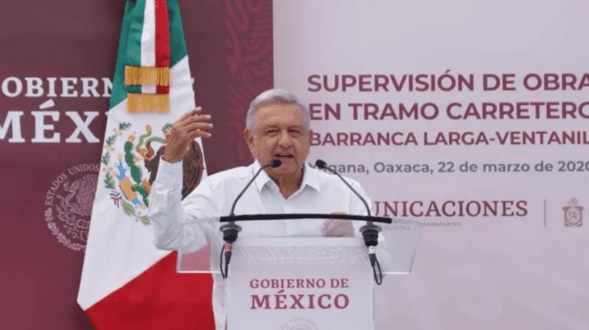 Andrés Manuel López Obrador confía en que México podrá salir adelante de la crisis.(El Universal)