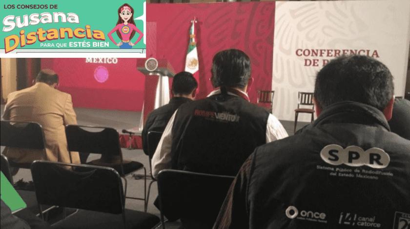 """Llega """"Susana Distancia"""" a Mañanera de AMLO(GH)"""