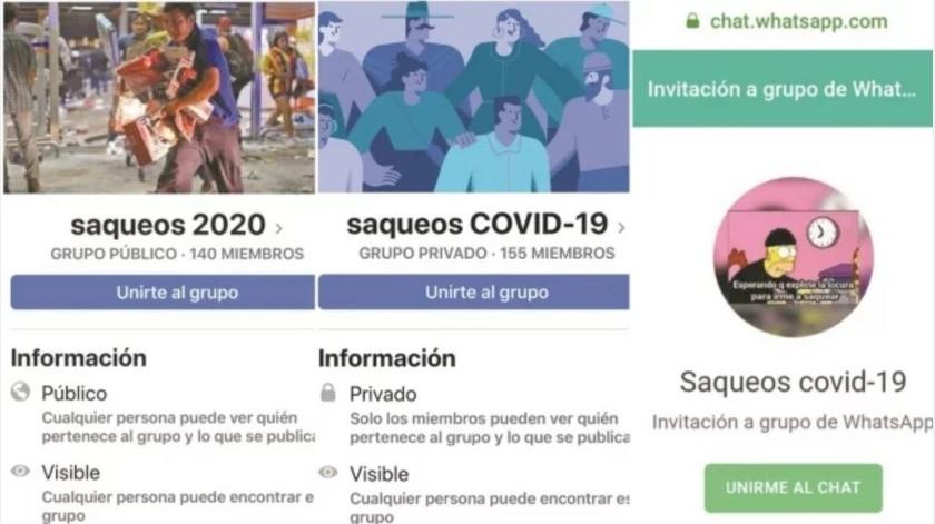 Llaman desde Facebook a saquear tiendas por coronavirus(El Universal)