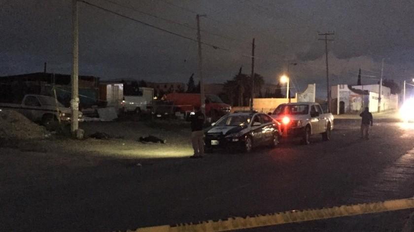 Dos ejecutados  en el fraccionamiento Santa Fe.(Margarito Martínez)