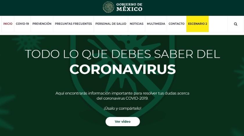 El Gobierno de la República publicó el portal oficial con información actualizada del nuevo coronavirus, disponible para toda la ciudadanía(Portal Oficial coronavirus.gob.mx)