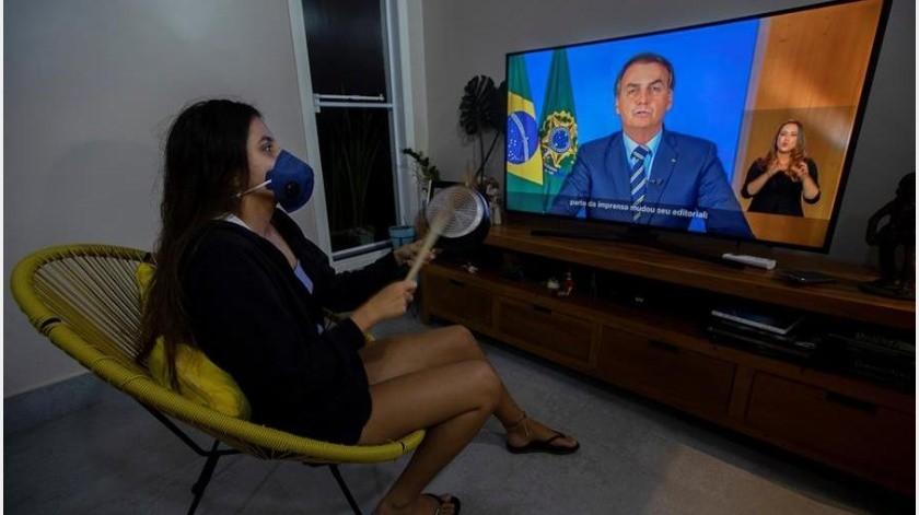 """También subrayó que """"el mundo busca un tratamiento para la enfermedad"""" y que en Brasil y en otros países """"se busca comprobar eficacia de la cloroquina""""(EFE)"""