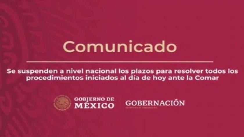 Retrasarán por Covid-19 atención a solicitantes de refugio(Twitter @SEGOB_mx)