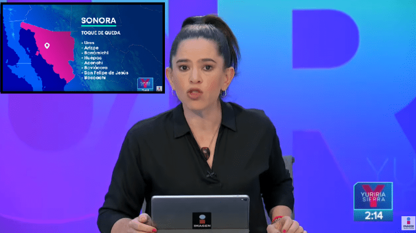 Sale mal: Yuriria Sierra habla de Sonora y el toque de queda por coronavirus(Imagen Noticias)