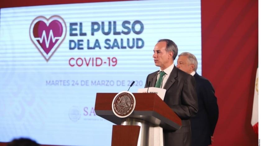 El subsecretario de Salud, Hugo López-Gatell, presentó acciones para enfrentar coronavirus.(Tomada de la red)