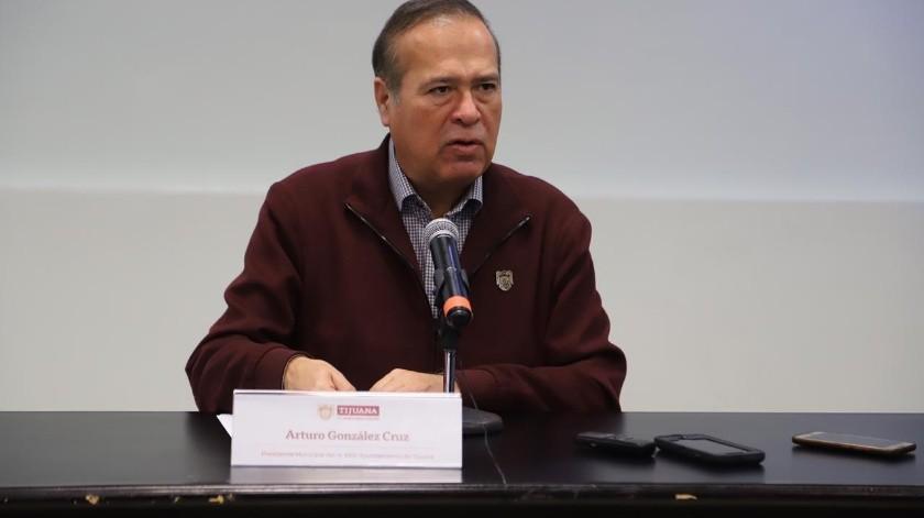 El presidente municipal, Arturo González Cruz.(Sergio Ortíz)