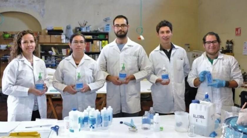 INAH realiza sus propios sanitizantes para Covid-19